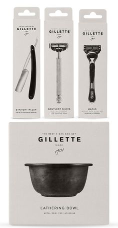 Awesome clean package design for Gillette