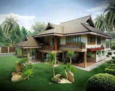 Exterior Home Design Vacations 21 New Ideas Filipino Architecture, Philippine Architecture, Tropical Architecture, Thai House, Beautiful Beach Houses, Beautiful Homes, Style At Home, Filipino House, Design Rustique