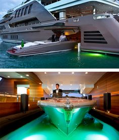 J'Ade yacht by CRN – Floating garage