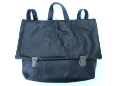 handmade black leather backpack by nastya klerovski