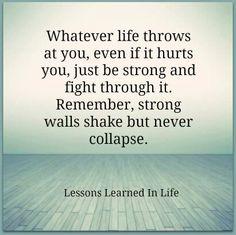 I'm shaken... but I'm pushing through...