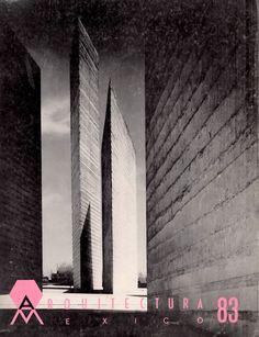 Portada de Arquitectura México 83, Septiembre 1963, con las Torres de Ciudad Satélite de Mathias Goeritz y Luis Barragán -  The Towers of Satelite City on the cover of issue 83  Arquitectura Mexico, September 1963