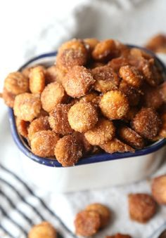 Salty Churro Toffee Snack Mix. Made with those little Oyster Crackers.  This is SO crazy addictive and delicious! Salty/Sweet/Cinnamony/Buttery. PERFECT for parties!