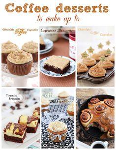 50 Coffee desserts to wake up to featured at Roxanashomebaking.com