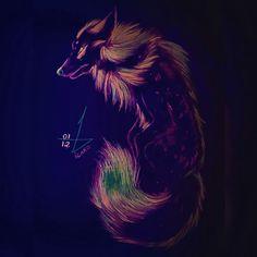 Wolf Fluorescent  Desenho Drawing  Insta: icarodn27