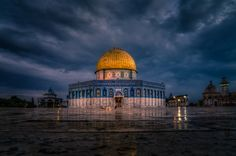 Dome of the Rock Jerusalem Islamic Architecture, Art And Architecture, Dome Of The Rock, Temple Mount, Biblical Art, Amazing Buildings, Islamic Pictures, Old City, Great View