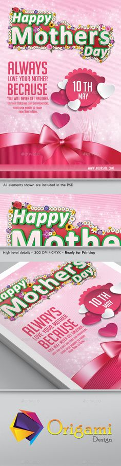 Mothers Day Celebration Flyer Template  Flyer Template