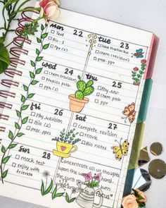 Weekly spread...easy and simple bullet journaling ideas . . . . . . . . . . . . . . . . . #studygram #studyblr #studynotes #study…