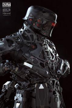 Robot Concept Art, Armor Concept, Military Robot, Arte Cyberpunk, Cyberpunk Fashion, Sci Fi Armor, Future Soldier, Cyberpunk Character, Robot Design