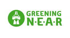 Logo design for Greening N.E.A.R. #Illustration and #lettering by Björn Berglund Creative Studio, www.bjornberglund.com