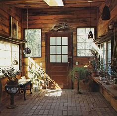 Potting room in a handmade house in Woodstock, NY