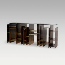 KYAN Console - modern, edgy and strong piece created to take the cosmopolitan style of urban tribes into your homes design. #BRABBU | See more at http://www.brabbu.com/en/casegoods/kyan-console.php