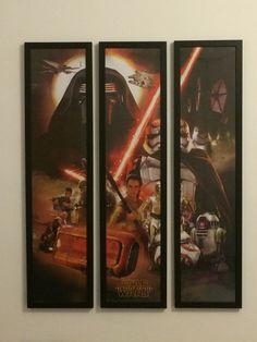 3 PIECE STARWARS FRAMED POSTER BY Framesbymarvel Marvel Dc, Star Wars, Comics, 3 Piece, Frame, Posters, Painting, Art, Picture Frame