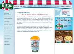 Spring kicks off with free italian ice the 20th at Ritas coupon via The Coupons App