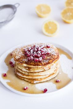 Make breakfast in bed for your honey this morning! Try these extra fluffy Lemon Ricotta Pancakes