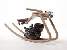 Rocking Horse Made from Old Motorbike Parts