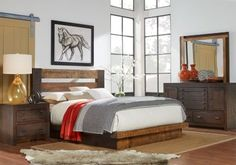 picture of asher coffee brown 7 pc king bedroom from king bedroom sets furniture