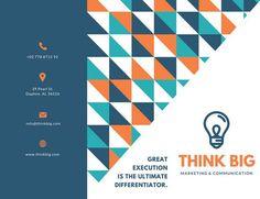 Geometric Pattern Marketing Trifold Brochure