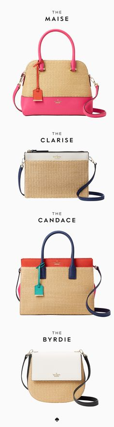 rendered in raffia and crosshatched leather, these super-popular bags are as beguiling as ever, …but the slightly lighter look gives them a more summer-friendly feel.