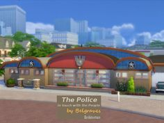 The Police #sims4 #communitylot #policestation