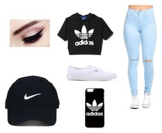 """""""Untitled #1"""" by abigailannevivian on Polyvore featuring adidas, Vans and Nike Golf"""