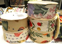 """Vintage Fabric Ribbon Lot 20 Rolls 3 Yds x 1.25"""" Mint Condition 1980s-1990s Woven Homespun Prints Crafting Holiday Decoration Cottage Chic by bansheehouseofmake on Etsy"""