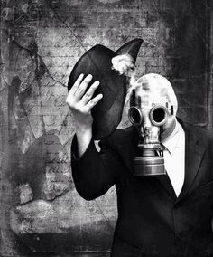 Image via We Heart It #fetish #gasmask #gothic