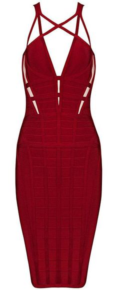 Scarlet Bandage Dress