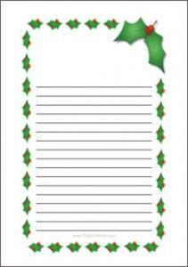 Christmas Writing PaperFree Printable Letter To Santa Lots Of