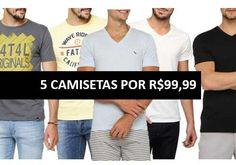 Oferta Submarino compre 5 camisetas masculinas por 99 reais  http://desconto.gratis/cupom/5-camisetas-por-99-submarino/  #desconto #submarino #descontos #modamasculina #moda