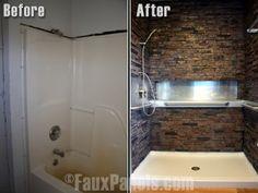 Faux Stone Shower