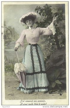 You are looking for a rare collectable item? Stamps, coins and banknotes, postcards or any other collectable items are on Delcampe! Belle Epoch, Gibson Girl, Georgian, The Hobbit, Victorian Fashion, Vintage Sewing, Postcards, Room Ideas, Aesthetics