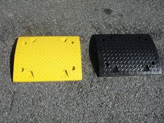 RSH500Y and RSH500B These extension sections allow us to fit and adjust our speed humps to fit virtually any width. Made from durable recycled rubber they can be installed as extensions to a larger speed hump or installed on their own from kerb to kerb when end caps are not required. Supplied with all bolts and washers required for simple installation. Easily install it yourself or call Speed Humps Australia and we'll install them for you. Bolts And Washers, Recycled Rubber, Extensions, Larger, Recycling, Card Holder, Australia, Simple, Fit