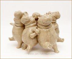 ronde d'hippopotames danseurs