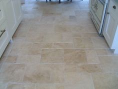 travertine random | Random Sized Pillow Edge Travertine with Radiant Flooring
