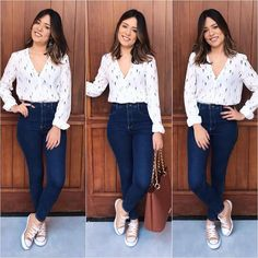 Get Inspired with this latest Best Casual Office Outfit for every Ladies of styles at the moment,This styles will leave you looking ravishing and cut… Casual Chic Outfits, Business Casual Outfits, Simple Outfits, Casual Jeans, Office Outfits For Ladies, Mom Outfits, Cute Outfits, Work Fashion, Fashion Looks