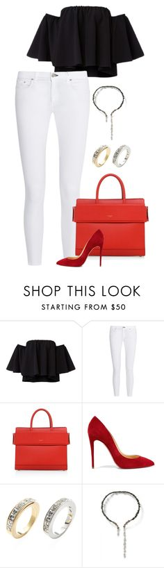 """""""Untitled #2399"""" by moxfordf on Polyvore featuring rag & bone, Givenchy, Christian Louboutin and Swarovski"""