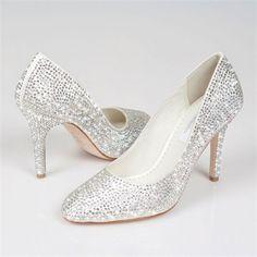 a404b0f43156 Customised swarovski crystal   pearl shoes by BejewelledBride ...