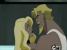 A suggestive sparring session between Green Arrow and Black Canary in Justice League Unlimited