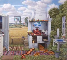 Jacek Yerka, Confusion In The Kitchen