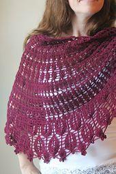 Ravelry: Nandina Shawl pattern by Cirsium Crochet