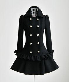 Women's Black Coat, Black Leather Skinny Pants, Black Suede Ankle ...
