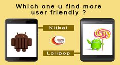 which one you find more user friendly ? A . Android kitkat B. Android Lolipop
