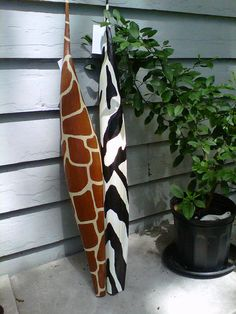 Giraffe skin & Zebra skin palm pods by MysticShores on Etsy