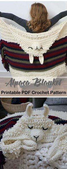 Make an alpaca blanket. Blanket Crochet Patterns – Make a Cozy Throw - A More . - All Crochet patterns - Make an alpaca blanket. Blanket Crochet Patterns – Make a Cozy Throw – A More Crafty Life - Crochet Simple, Cute Crochet, Crochet Crafts, Crochet Baby, Knit Crochet, Crochet Ideas, Crochet Unicorn, Simple Crochet Patterns, Diy Crochet Projects
