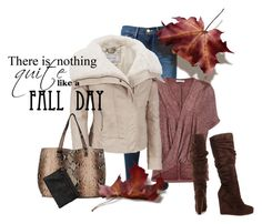"""Fall Days"" by wilsonsleather ❤ liked on Polyvore featuring Frame Denim, maurices, Black Rivet and Michael Antonio"