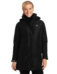 b5a64c7d0db73 Helly Hansen Womens W Insulated Long Aden Jacket Black XLarge * Be sure to  check out this awesome product. (This is an aff… | Women's Coats and Jackets