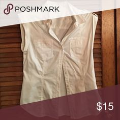 White blouse Kenneth Cole white tank top blouse Kenneth Cole Tops Blouses