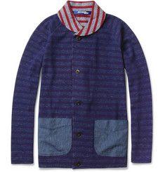 Junya WatanabeStriped Lightweight Wool and Cotton-Blend Jacket