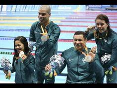 Brasil ganha prata no revezamento misto 4x50m da Paralimpíada.